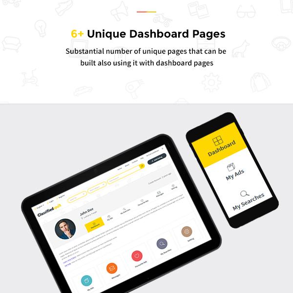 classified spot html Dashboard design