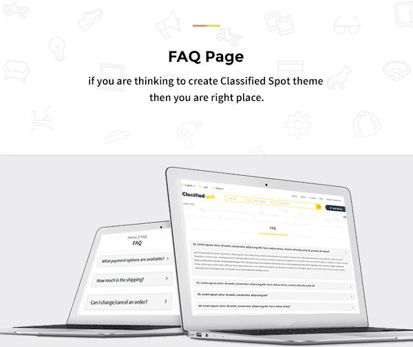 classified spot html Faq page