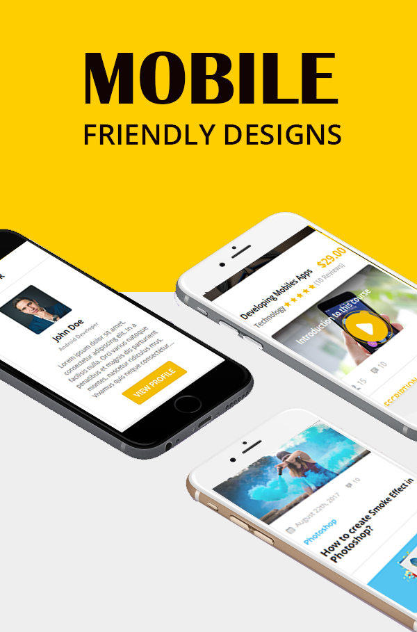 Education course html template