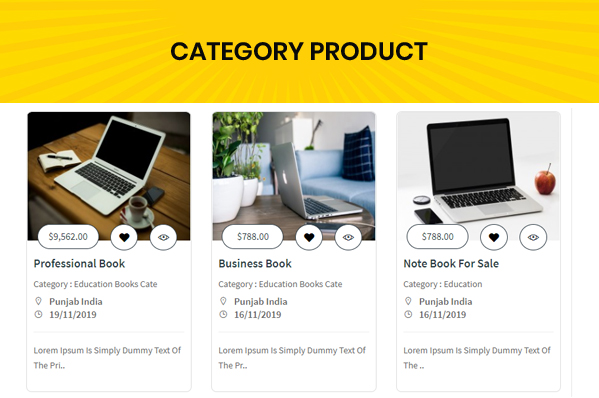 classified custom script category ads list view page