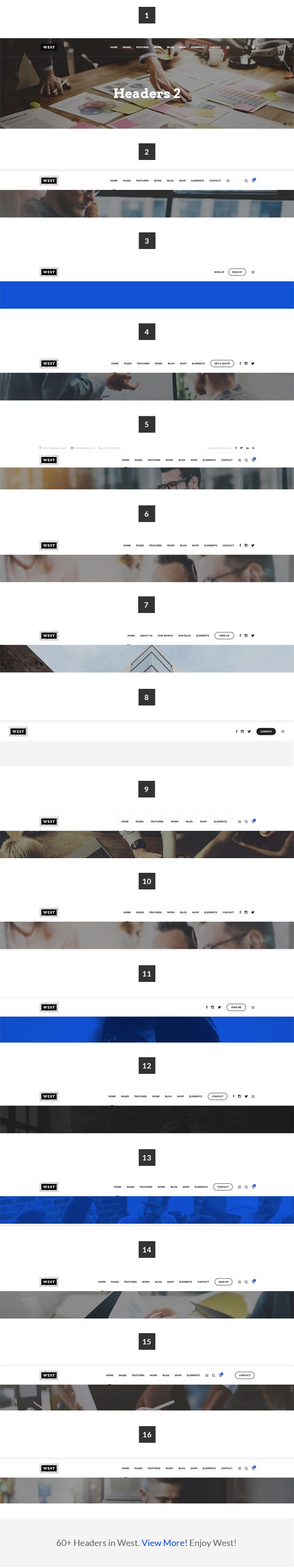 travel Html Template  Features list