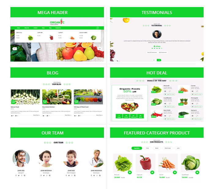 Organic Food and Fruits OpenCart Theme