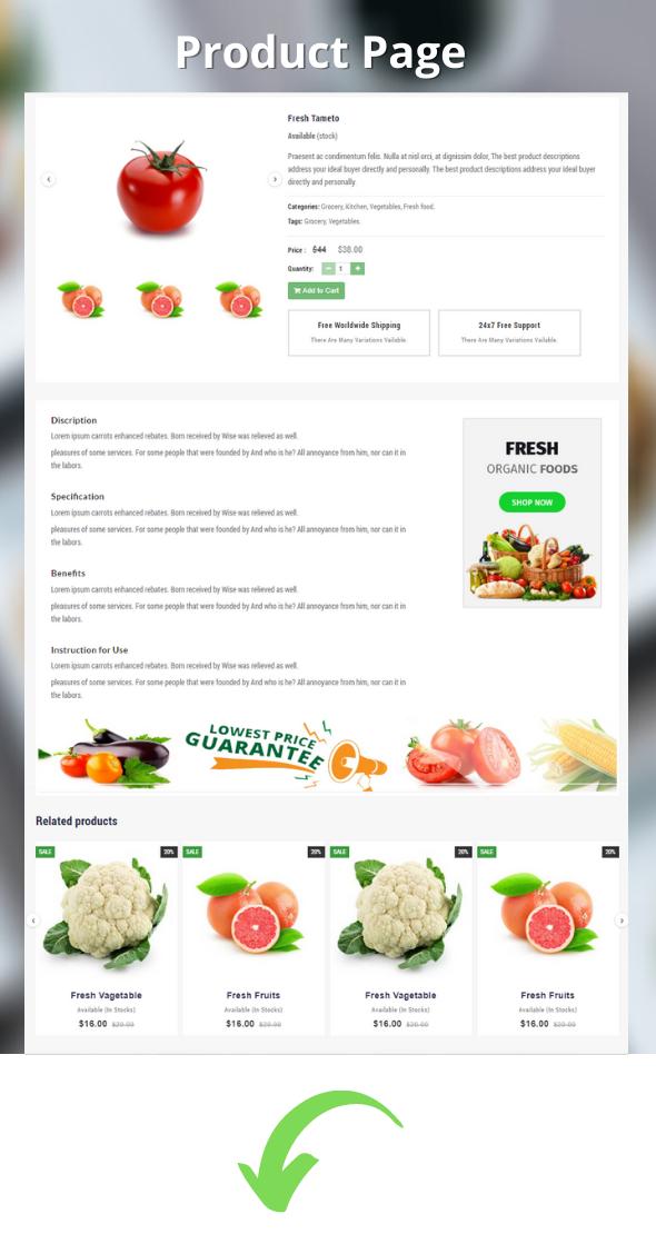 vegitable html template category